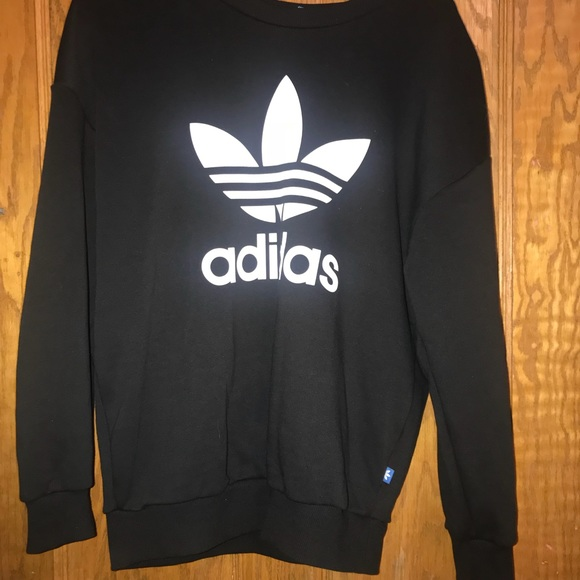 best authentic 54c44 476a5 adidas Sweaters - Adidas Black Crew neck sweater
